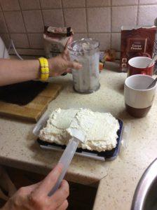 IR barát Kinder tejszelet töltése