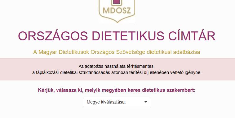 Dietetikus kereső