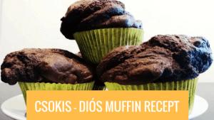 Csokis-diós muffin recept
