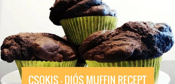 Csokis-diós muffin 10 perc előkészítéssel