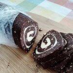 Cukormentes keksztekercs recept