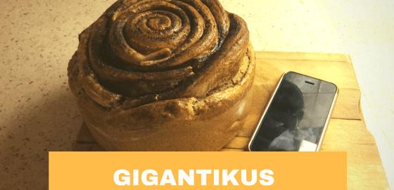 Gigantikus fahéjas csiga recept – teljeskiőrlésű lisztből és cukor nélkül