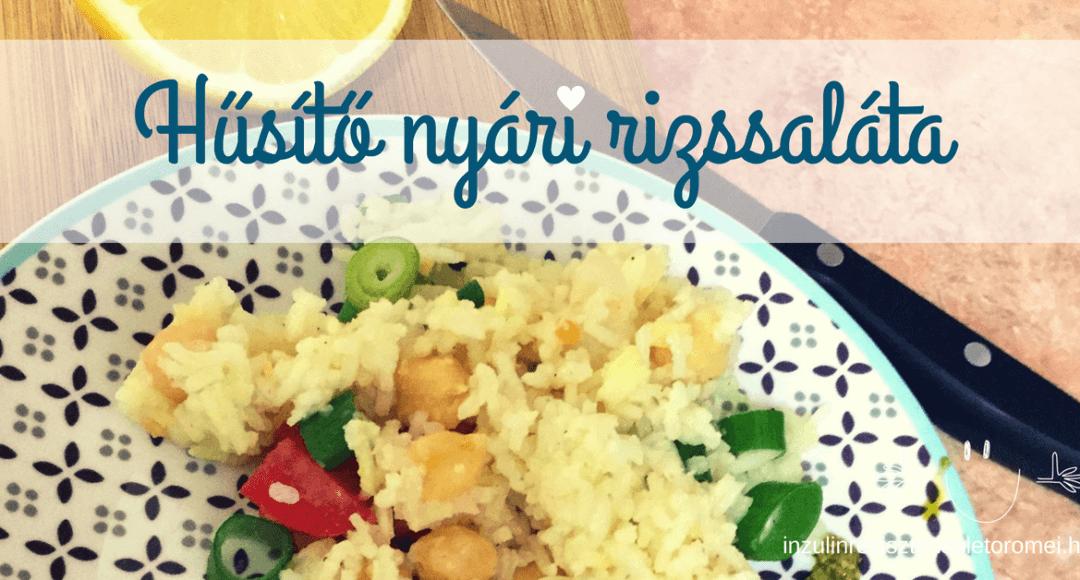 hűsítő nyári rizssaláta recept inzulinrezisztenseknek