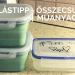 Tárolástipp – összecsukható műanyagdoboz